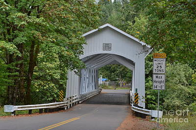Photograph - Short Covered  Bridge Portal by Ansel Price