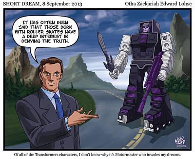 Transformer Drawing - Short Dream 03 by Otha Lohse