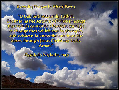 Photograph - Short Serenity Prayer by Glenn McCarthy Art and Photography