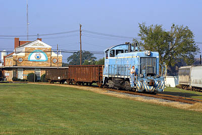 Photograph - Short Train In A Small Town by Joseph C Hinson Photography