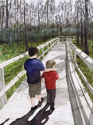 Painting - Short Walk Long Pier by June Holwell