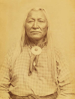 Photograph - Shoshone Chief Washakie by Paul Ashby Antique Image