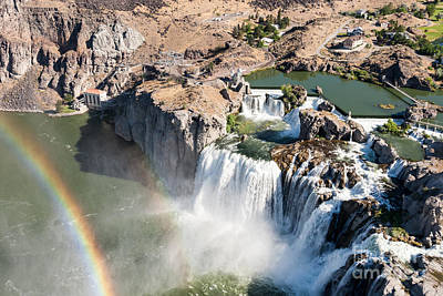 Photograph - Shoshone Falls Rainbow by John Ferrante