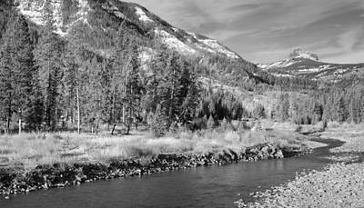 Shoshone Photograph - Shoshone River In Black And White by Twenty Two North Photography