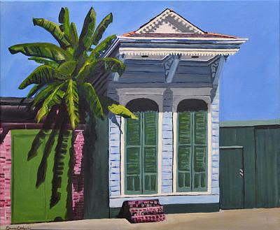 New Orleans Shotgun Houses Painting - French Quarter Shotgun  by Drew Enderlin