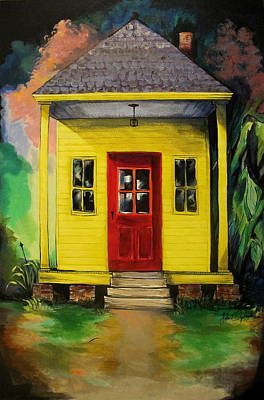 Painting - Shotgun House by John  Duplantis