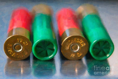 Digital Art - Shotgun Shells by Dale Powell