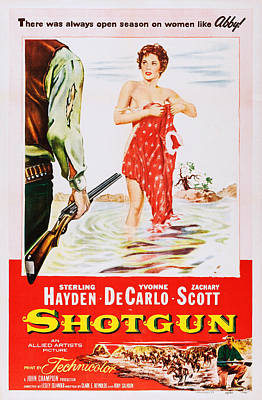 Covering Up Photograph - Shotgun, Us Poster Art, Yvonne De by Everett
