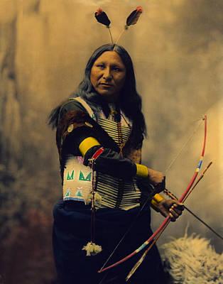 Shout At Oglala Sioux  Art Print