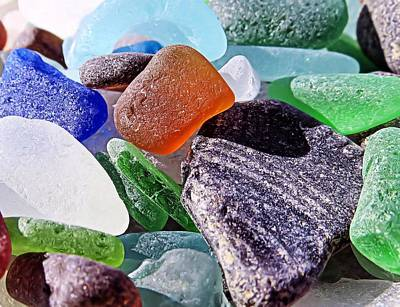 Sea Glass Photograph - Shout Out To Amber by Janice Drew