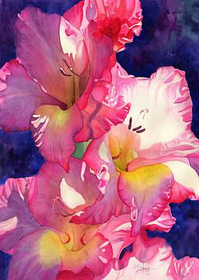 Gladiolas Painting - Shouts Of Joy by Kristina Storey