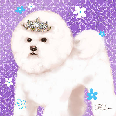 Dog Mixed Media - Show Dog Bichon Frise by Shari Warren
