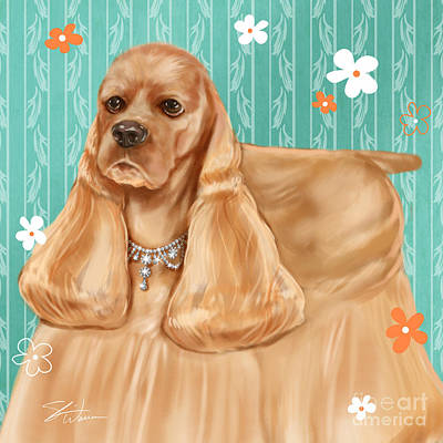Show Dog Cocker Spaniel Art Print