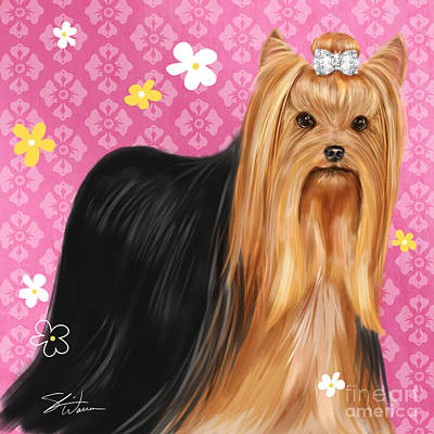 Show Dog Yorkshire Terrier Art Print by Shari Warren