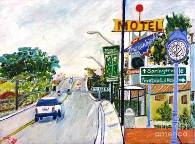 Art Print featuring the painting Show Low Arizona  by Leslie Byrne