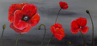 Show Off Poppies Art Print
