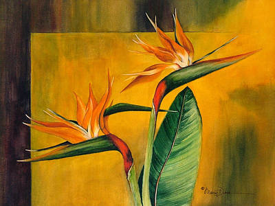 Painting - Show Offs Bird Of Paradise by Mary Dove