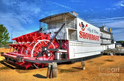 Steamboat Photograph - Showboat Big Wheel by Mel Steinhauer