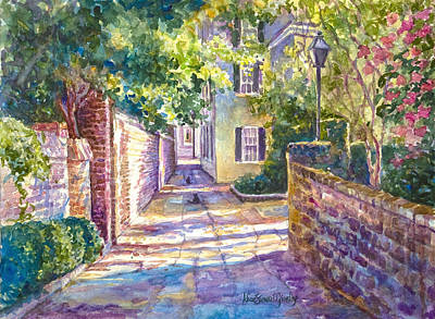 Brick Painting - Showdown In Price's Alley by Alice Grimsley
