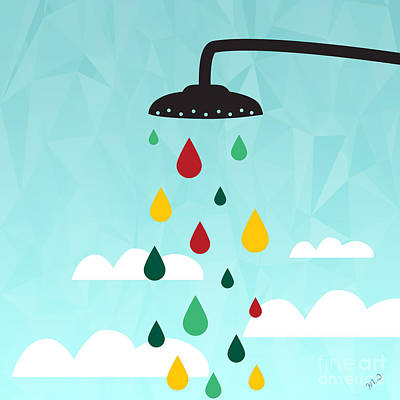 Shower  Art Print by Mark Ashkenazi
