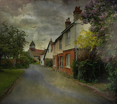 Country Lanes Digital Art - Showers by Fran J Scott