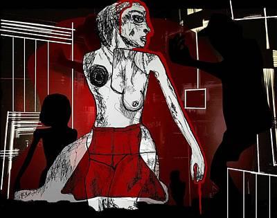 Disco Mixed Media - Showgirl by Franziska Kolbe