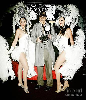 Woman With Cameras Photograph - Showgirls And Photographer With Polaroid by Nina Prommer