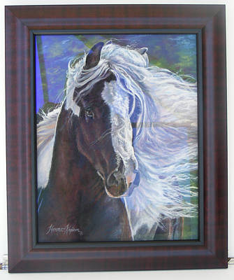 Painting - showing frame on Pearlie King by Denise Horne-Kaplan