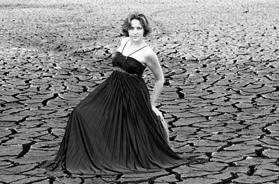 Dry Lake Photograph - Showing Some Class Black And White by Teri Schuster