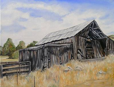 Rural Decay Painting - Showlow Arizona by Deana Smith