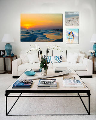 Photograph - Shown Hung On Wall - Beach Day Combo by Susan Molnar