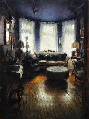 Quebec Painting - Showroom by Nicolas Martin