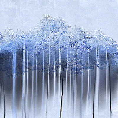 Painting - Shredded Abstract In Blue by Jessica Wright