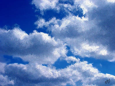 Shredded Clouds Art Print