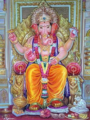 Painting - Shree Ganesh  by Mayur Sharma