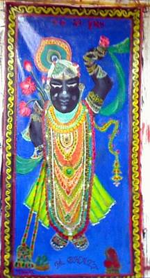 Shreenathji Art Print by M Bhatt