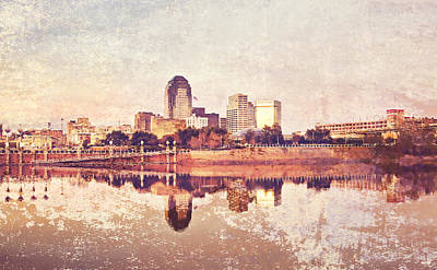 Pellegrin Photograph - Shreveport Waterfront With Texture by Scott Pellegrin