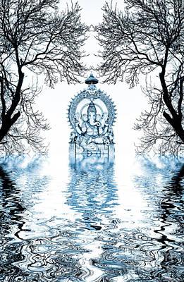 Deity Photograph - Shri Ganapati Deva by Tim Gainey