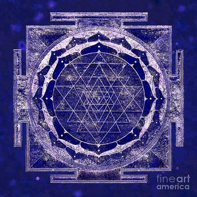 Sri Yantra Painting - Shri Yantra Mandala by RavensWood Designs