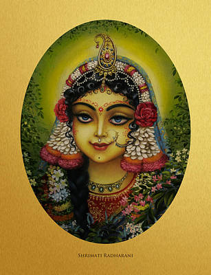 Shrimati Radharani Art Print by Vrindavan Das