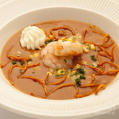 Photograph - Shrimp Bisque by New  Orleans Food