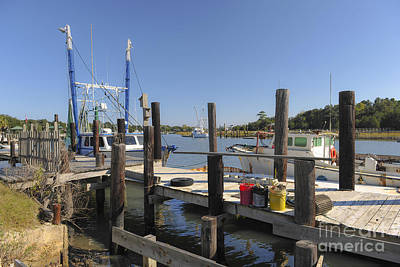 Photograph - Shrimp Boat At Dock In Mccellanville Sc by Dale Powell