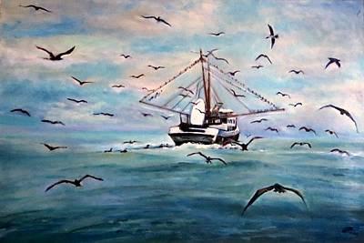 Shrimp Boat Costa Rica Art Print