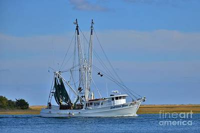 Photograph - The Sebrina Jane Shrimp Boat  by Bob Sample