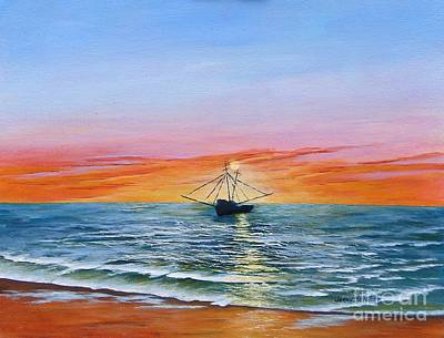 Painting - Shrimp Boat by Jerry Walker