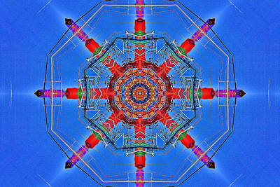 Digital Art - Shrimp Boat Kaleidoscope by Bill Barber