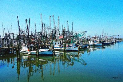 Pass Christian Ms Wall Art - Photograph - Shrimp Boat Lineup - Pass Christian Harbor by Rebecca Korpita