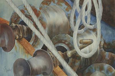 Shrimp Boat - Out Of Service Art Print by Johanna Axelrod