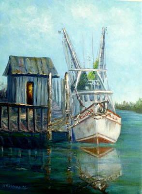Shrimp Boat Paintings Art Print