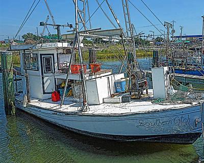 Pass Christian Ms Wall Art - Photograph - Shrimp Boat - Southern Catch by Rebecca Korpita